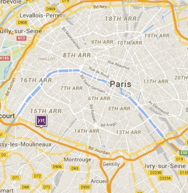 Mercure Paris Vaugirard Porte de Versailles map
