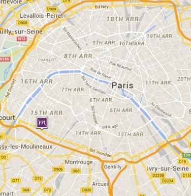 Mercure Paris Vaugirard Porte de Versailles map