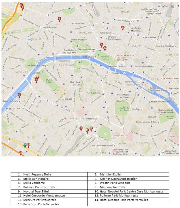 Mapa SM Paris